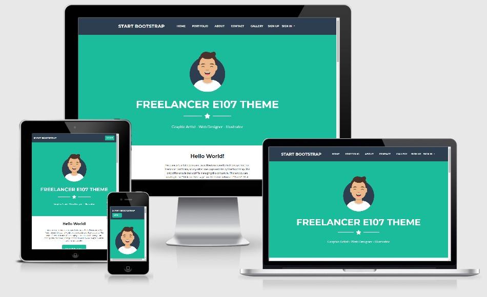 Freelancer Lite Bootstrap4 theme