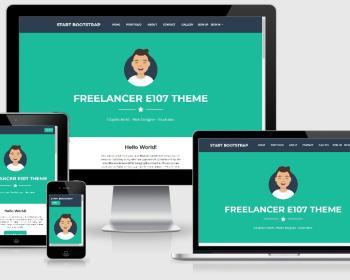 Freelancer e107 Bootstrap4 theme 4.2